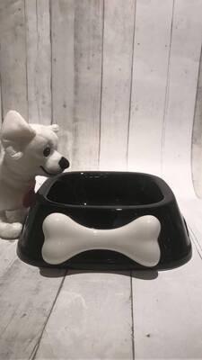 Ceramic Bowl ' BON APPETIT' Black with bone
