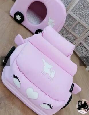 Set voiture+caravan Pink chihuahua