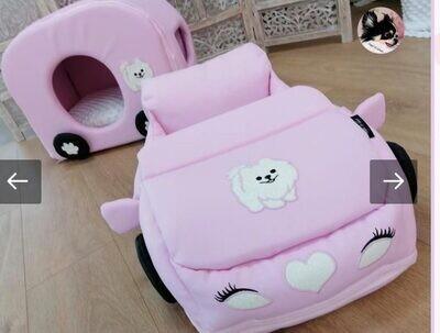 Set voiture+caravan Pink pomeranian
