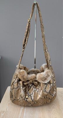 Snake perfect shoulderbag with opal