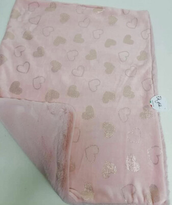 Eh Gia  Blanket Pink- a lot of hearts