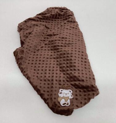 Blanket teddy brown 60x85