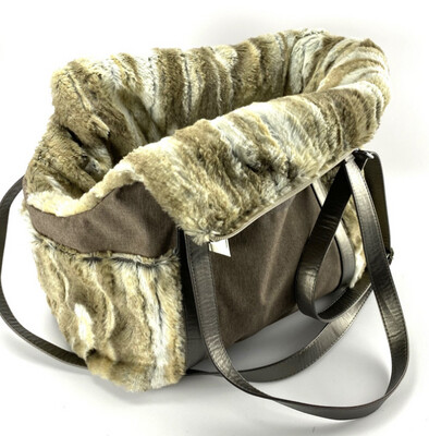 Holly Loo bag Brown with fur
