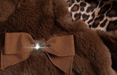 Furry warm veste Brown