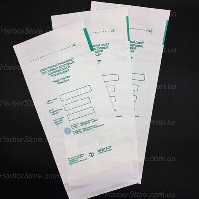 Крафт пакеты для паровой и воздушной стерилизации, 100х200 мм