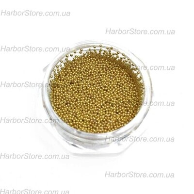 Бульонки металлические золото (размер 0,6 мм) - ЦВЕТ НЕ СТИРАЕТСЯ!