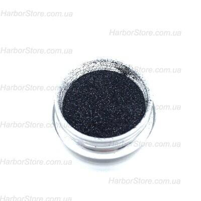 Бархатный песок черный с блестками