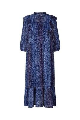 Lollys Laundry Cana Dress Neon Blue