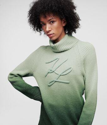 Karl Lagerfeld Soutache Sweater Green