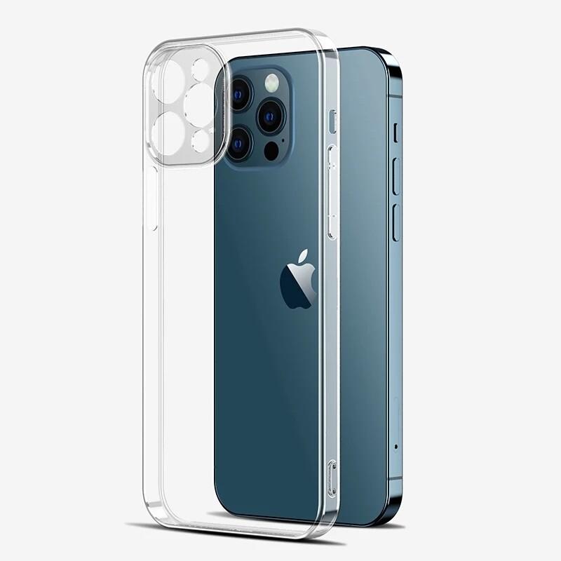 Coque ultrafine en silicone pour iPhone 11 et 12