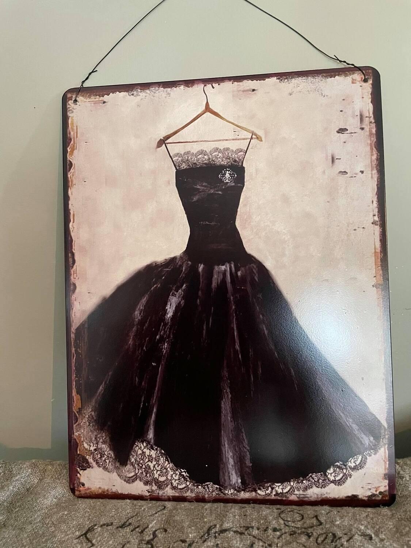 Metale bord kleed zwart