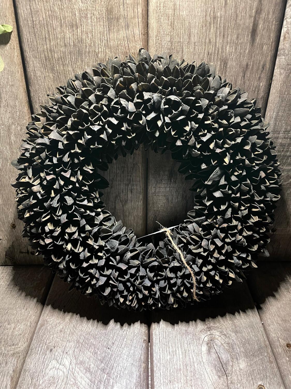 Krans Bakuli Wreath 30cm - Black