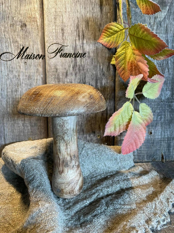 Paddenstoel hout Groot 17CM