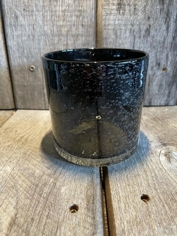 Still glas Black bubble 10x10cm