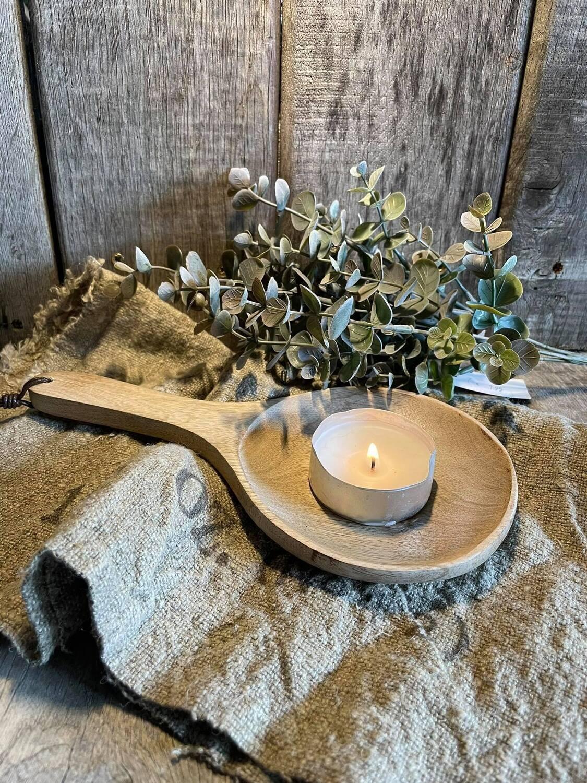 Houten decoratieve lepel  Mango hout