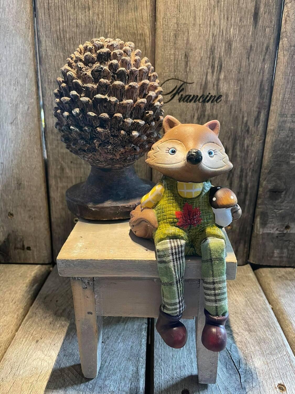 Herfst Mannetjes vos met afhangende beentjes