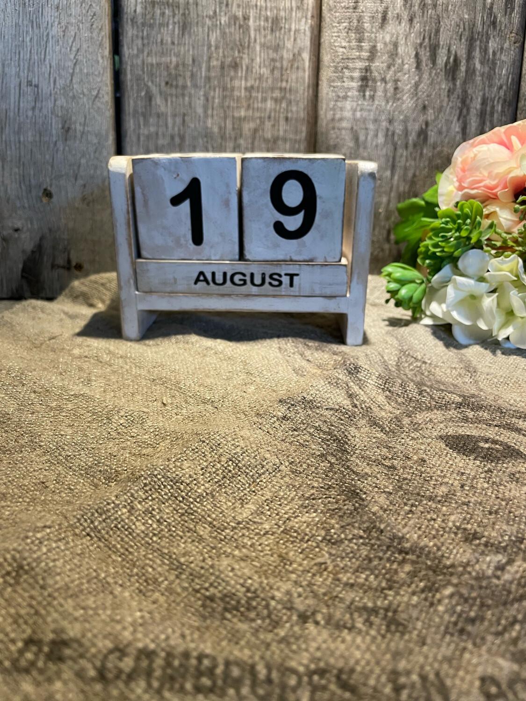 Kalender Blok Wit