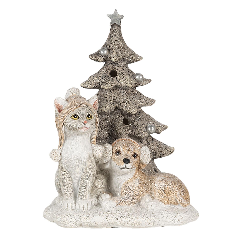 Kerstboom met hond en kat inclusief Led verlichting