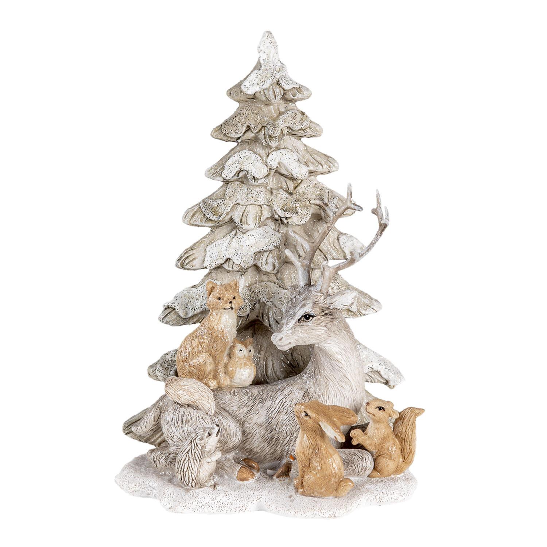 Kerstboom met liggend rendier