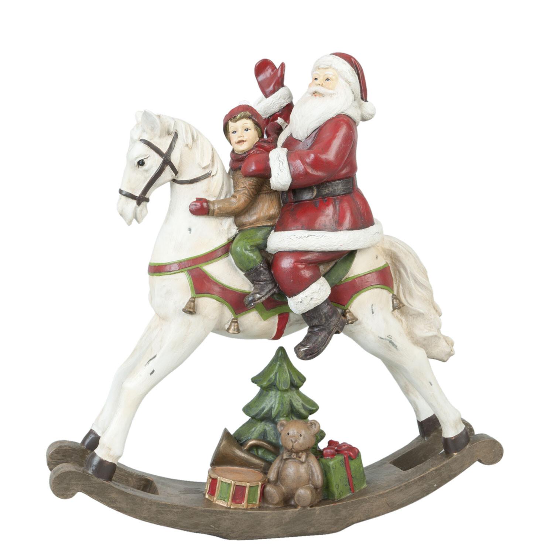 Kerst hobbelpaard met kerstman