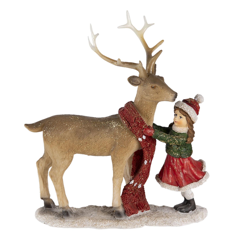 Kerst kindje met rendier