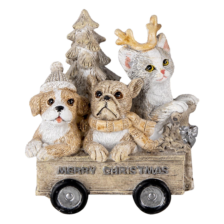 Kerst diertjes in bolderkar