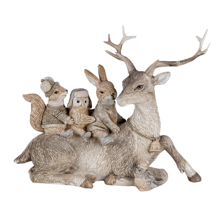 Kerst rendier met diertjes