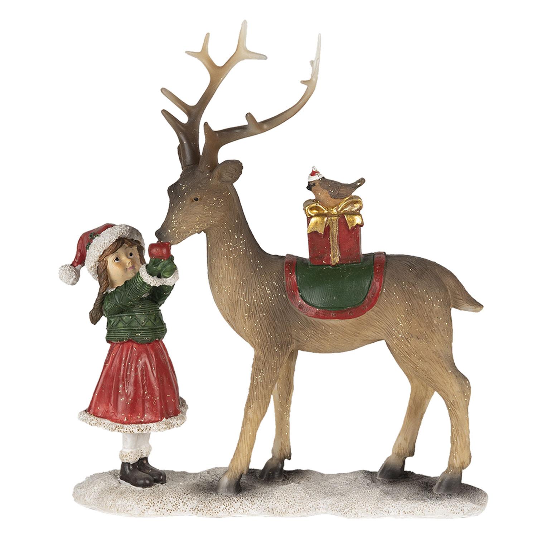 Kerst rendier met kindje