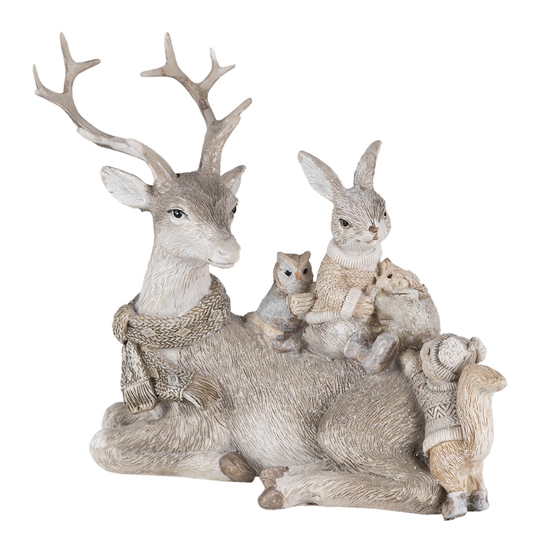 Kerst rendier met konijntje