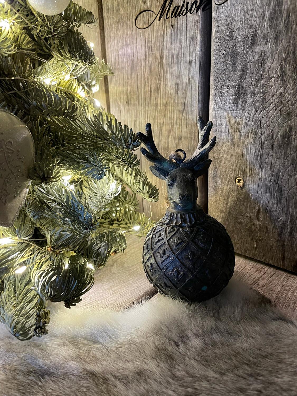 Herten Kerstbol Donker grijs