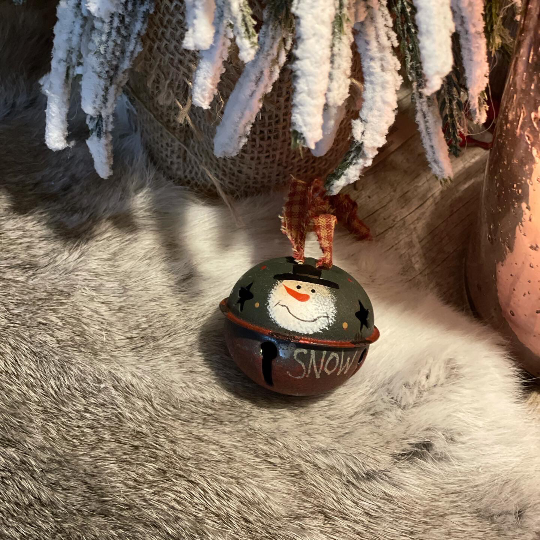 Kerstbel Sneeuwman