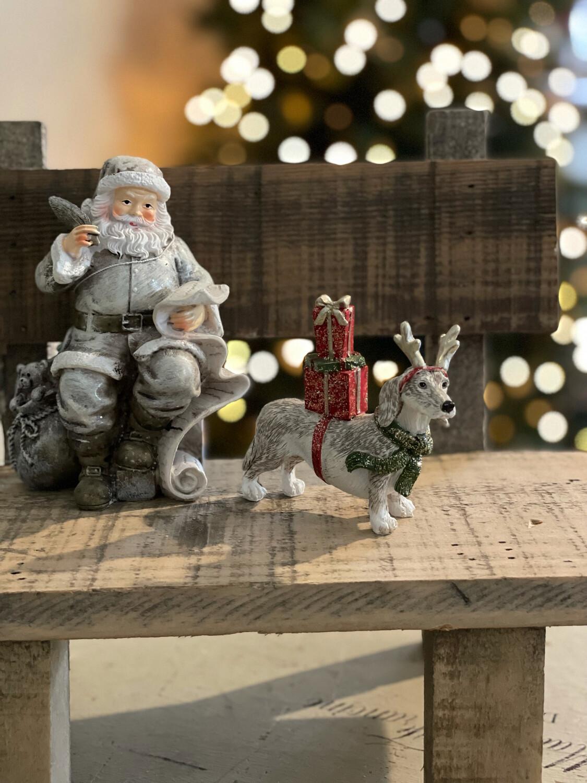 Kerst Teckel Met Cadeaus