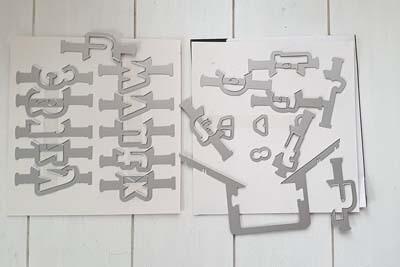 Lagenweise Buchstaben