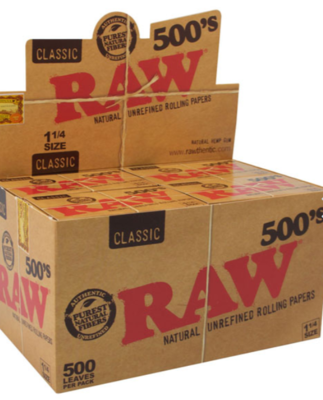 Raw Classic 500's Rolling Papers, 1 1/4