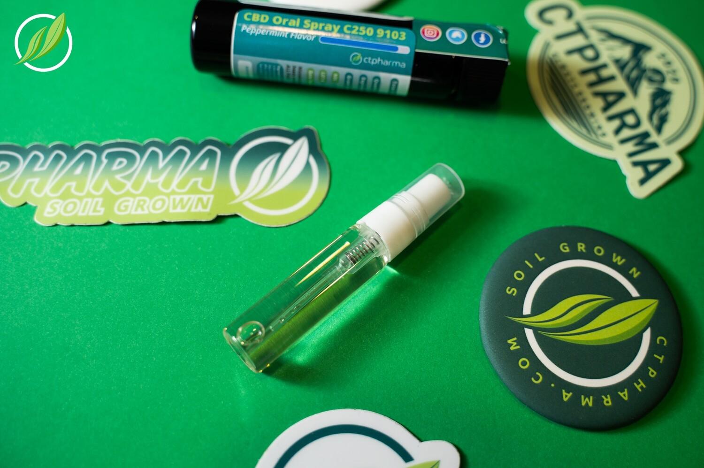 CBD Oral Spray C250 9103 - Peppermint Flavor - 5 mL (CTPharma)