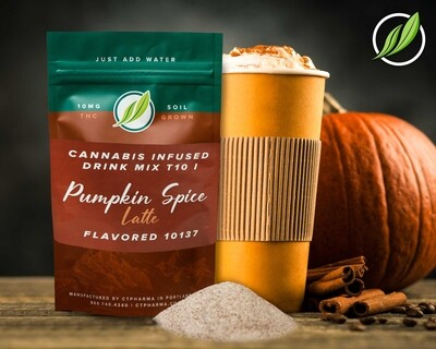 Cannabis Infused Drink Mix T10 I Pumpkin Spice Latte Flavored 10137 - 1 Unit (CTPharma)