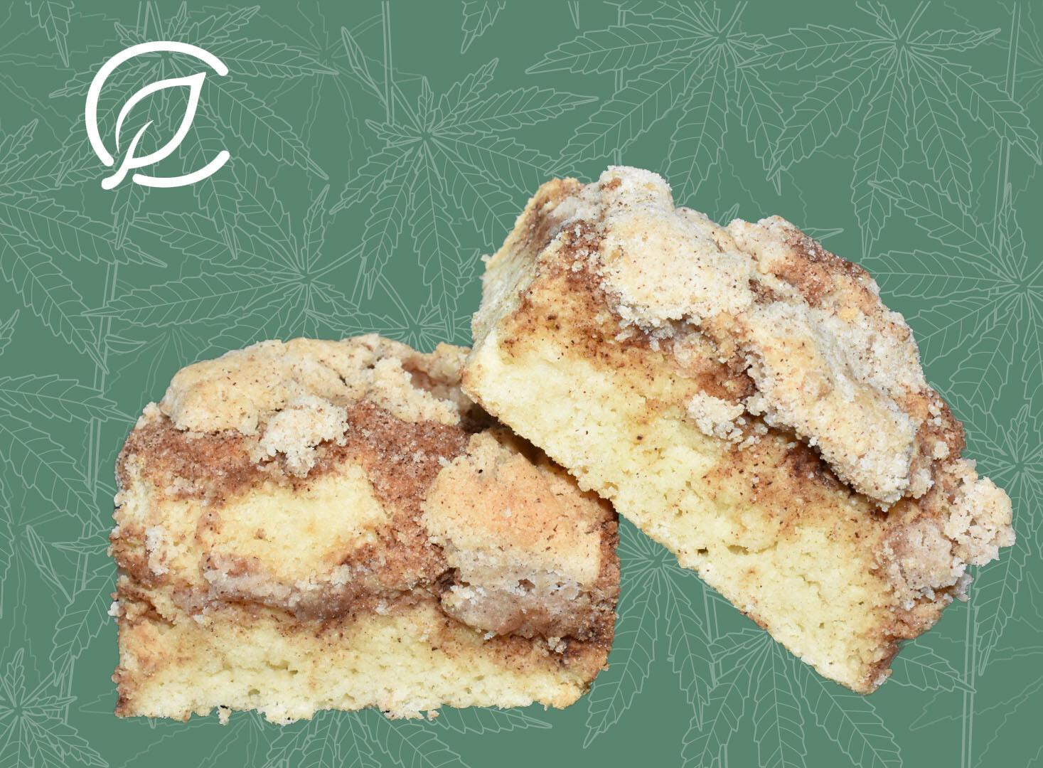 Coffee Cake Bars 10228 Edible - 2 Pack (Curaleaf)