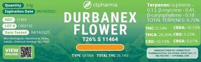 Durbanex Flower T26% S 11464 (3.5g)(CT Pharma)