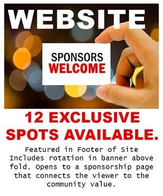 EXCLUSIVE Website Sponsorship