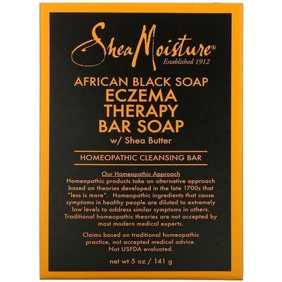 SheaMoisture, African Black Soap, Eczema Therapy Bar Soap with Shea Butter, 5 oz (141 g)