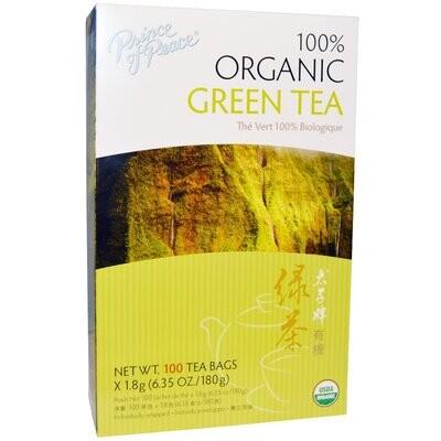 Prince of Peace, 100% Organic Green Tea, 100 Tea Bags, 6.35 oz (180 g)