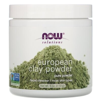 Now Foods, Solutions, European Clay Powder, 6 oz (170 g)