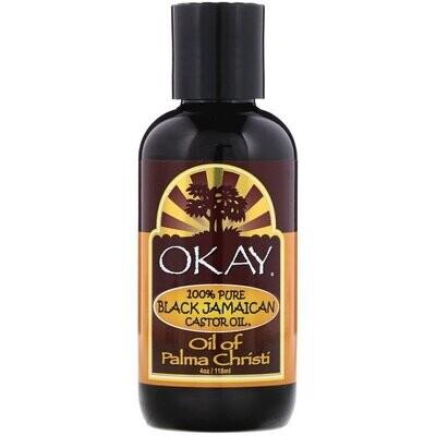 Okay Pure Naturals, 100% Pure Black Jamaican Castor Oil, 4 oz (118 ml)