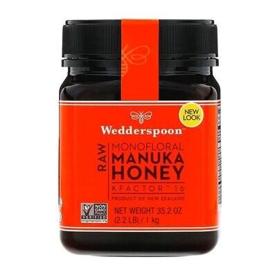 Wedderspoon, Raw Monofloral Manuka Honey, KFactor 16, 2.2 lb (1 kg)