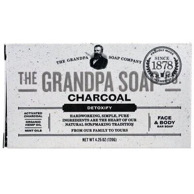 Grandpa's, Face & Body Bar Soap, Detoxify, Charcoal, 4.25 oz (120 g)