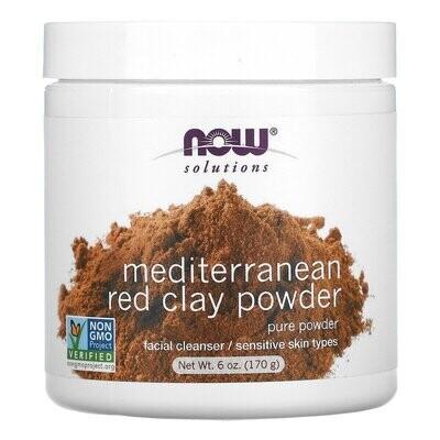 Now Foods, Solutions, Mediterranean Red Clay Powder, 6 oz (170 g)