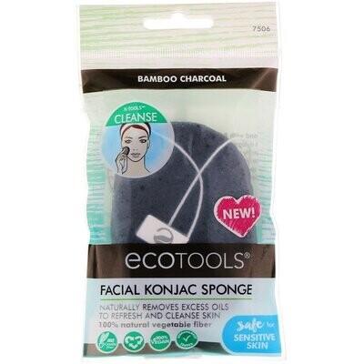 EcoTools, Facial Konjac Sponge, Bamboo Charcoal, 1 Sponge