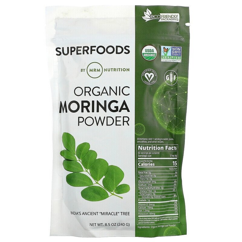 MRM, Organic Moringa Powder, 8.5 oz (240 g)