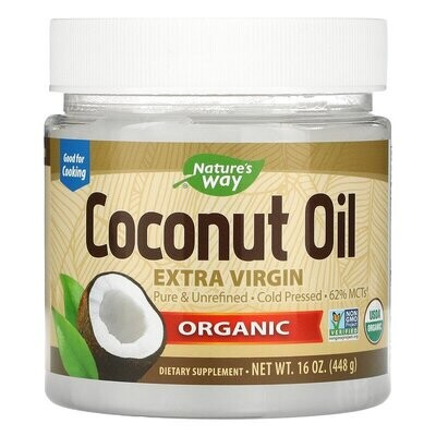 Nature's Way, Organic Coconut Oil, Extra Virgin, 16 oz (448 g)