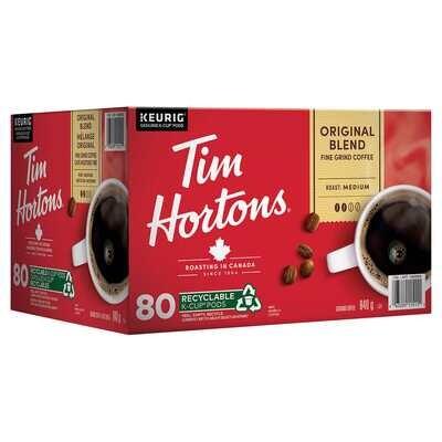 Tim Hortons Single-Serve K-Cup Pods, 80-pack